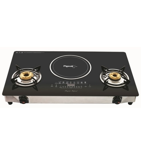 Pigeon Aspira Hybrid 2 Lpg Burner With Induction Cooktop 28 X 15 Inches