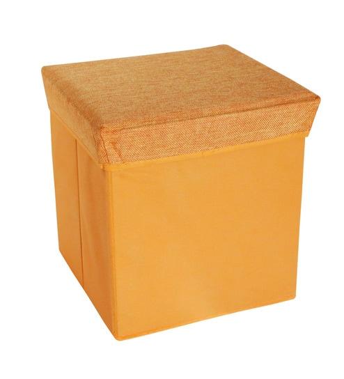 Pindia Foldable Fabric Orange 10 L Stool with Lid u0026 Storage Box  sc 1 st  Pepperfry & Buy Pindia Foldable Fabric Orange 10 L Stool with Lid u0026 Storage Box ...