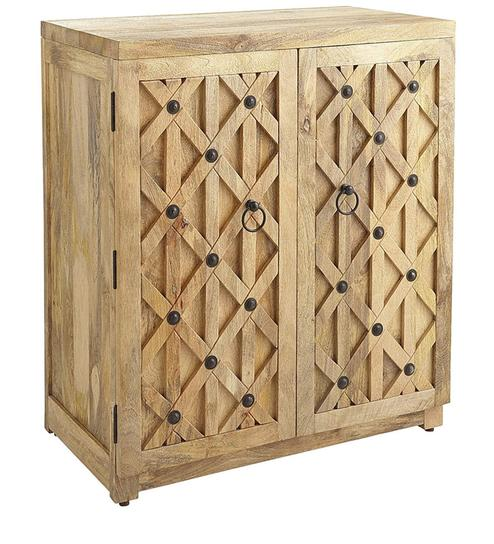 Buy Pine Wood Bar Cabinet by Asian Arts Online - Bar Cabinets ...