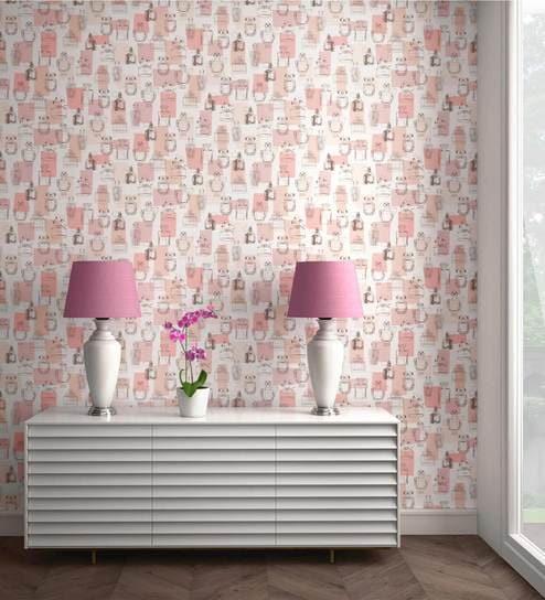 Buy Pink Metallic Makes Scents Wallpaper Nilaya Wall Coverings By