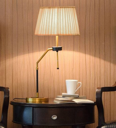 Pink Fabric Affluent Table Lamp By Kapoor E Illuminations