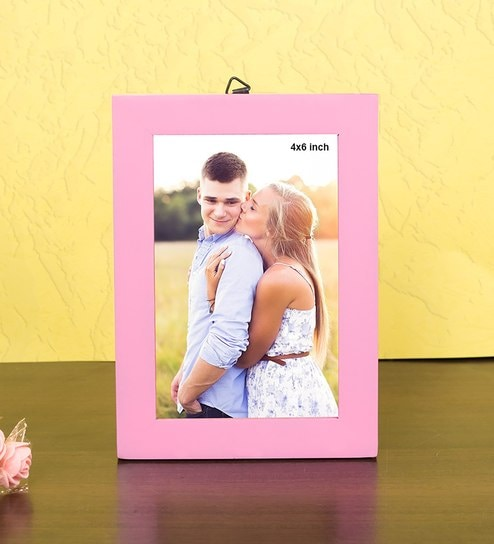 e577930e7177 Buy Pink Wood & MDF Pink 6x4 Wooden Table Top Frame by Golden Peacock  Online - Single Photo Frames - Single Photo Frames - Wall Art - Pepperfry  Product