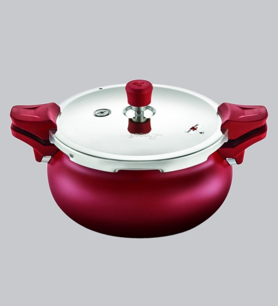 Buy Pigeon by Stoverkraft Aluminium Induction Base Pressure Cooker (Silver,  5 L, 3.5 L, 3 L, 2 L)- Set of 4 Online at Low Prices in India - Amazon.in