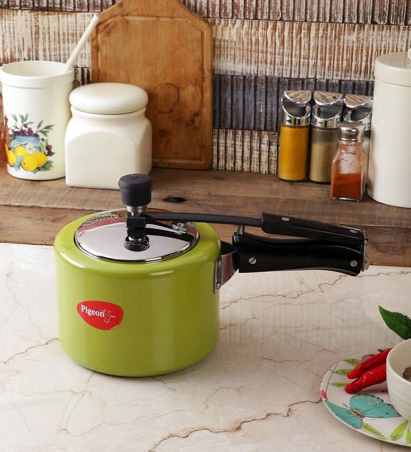 Pigeon Chroma Green Aluminium 3L Pressure Cooker