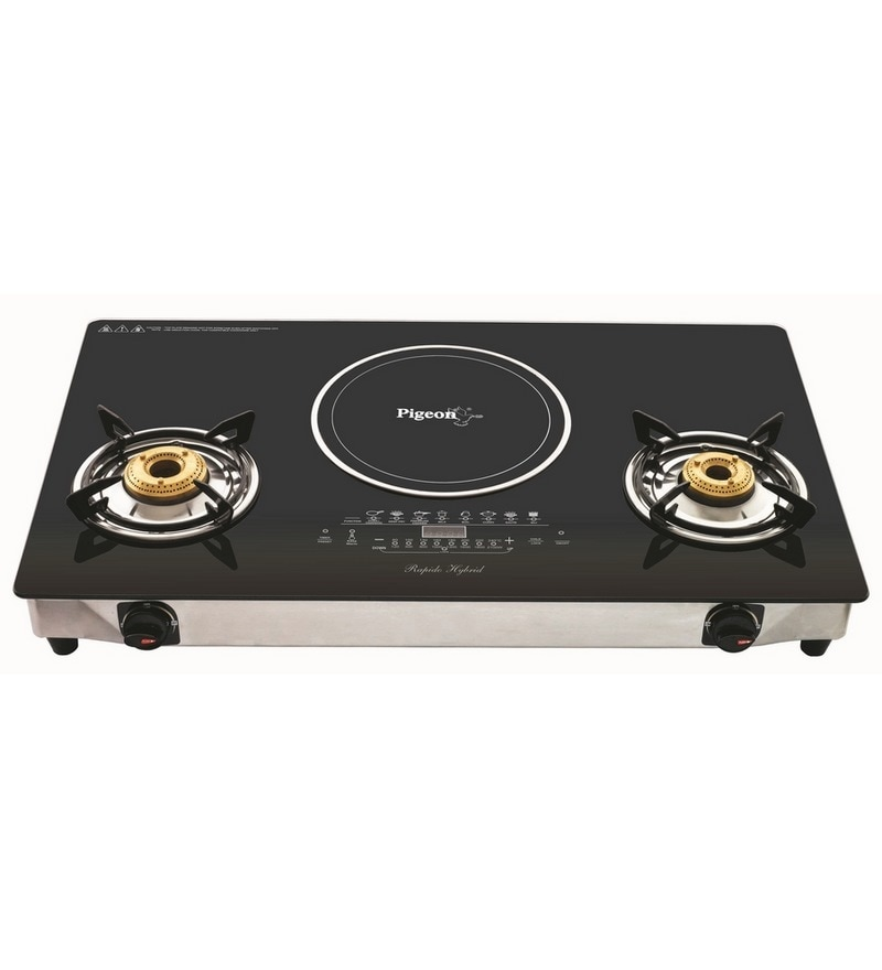 Exceptional Pigeon Aspira Hybrid 2 LPG Burner With Induction Cooktop  28 X 15 X 2 Inches