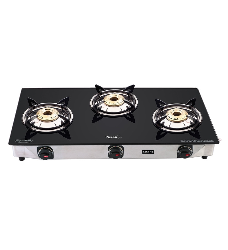 Pigeon Brass 3-Burner LPG Blackline Gas Stove