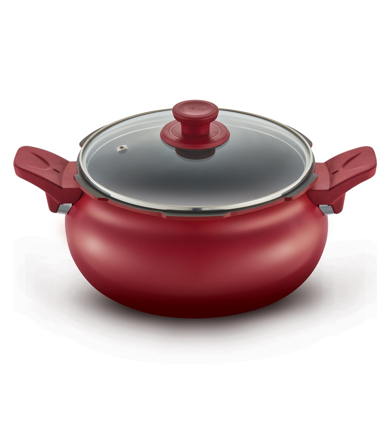 Pigeon Red Aluminium 5L All in One Super Pressure Cooker