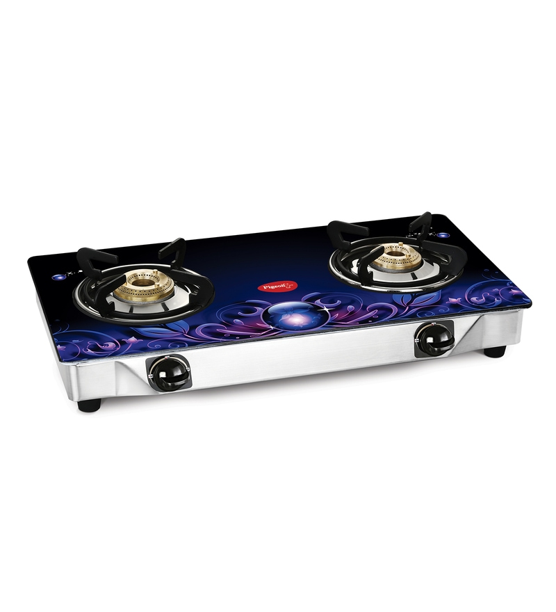 Pigeon Smart Plus Zeus Brass 2 Burner Gas Stove