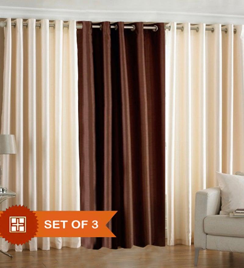 Buy Pindia Brown Amp Cream Polyester 60x48 Inch Window