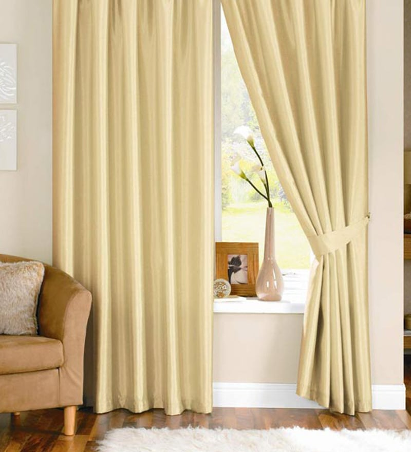 Buy Pindia Fawn Polyester Solid 60x48 Inch Window Curtain