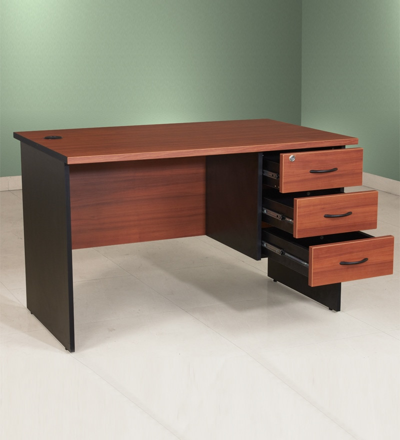 Pine Crest Admire Office Table 4 X 2 With 3 Drawers By