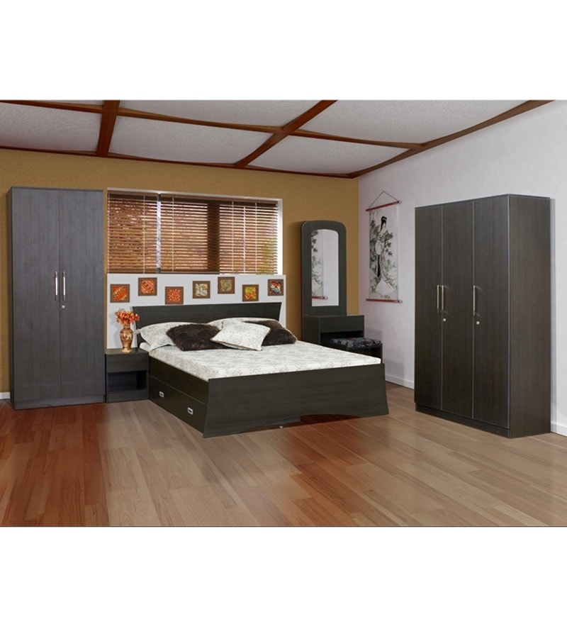 Pine Crest Royal Bedroom Combo Set 3 Dr Wardrobe Bed