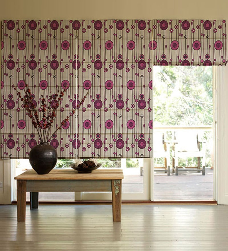 Pink Poly Viscose 44 x 72 Inch Window Blind by Presto