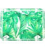 Pickled Canvas Green Foliage Serving Acrylic Tray