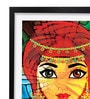 Pickypomp Paper 8 x 12 Inch Beautiful Girl Framed Wall Poster