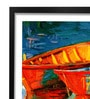 Pickypomp Paper 8 x 12 Inch Boats Floating in the Water Framed Wall  Digital Art Print