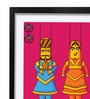 Pickypomp Paper 8 x 12 Inch Lovely Puppets in Pink Framed Wall Poster