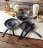 Pigeon Black Granito Series Aluminium Cookware Set - Set Of 7