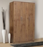 Platina Knotty Three Door Wardrobe in Knotty Wood Finish