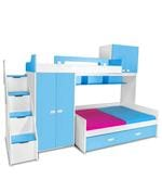 Play Bunk Bed in Blue and White