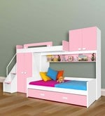 Play Kids Bunk Bed in Pink Colour
