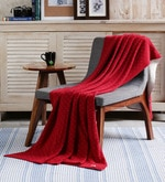 Red Cotton Dots of Love Throw