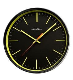 Plastic 12.1 X 2 X 12.1 Inch Wall Clock 3D Numerals Silent Silky Move Analog Black Clock