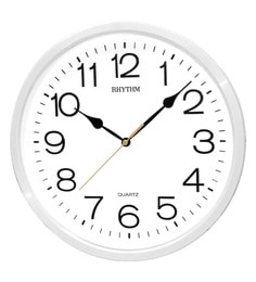 Plastic 12.3 X 2 X 12.3 Inch Analog Wall Clock 3D Numerals White Clock