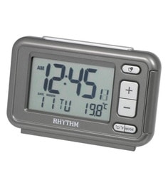 Plastic 4.2 X 1.5 X 2.7 Inch Lcd Table Clock Beep 12-24 Hour Selectable Metallic Gray Case Clock