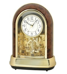 Plastic 8.3 X 4.7 X 11.3 Inch Contemporary Motion Clock 30 Melodies & 6 X-Mas Songs Clock - 1623404