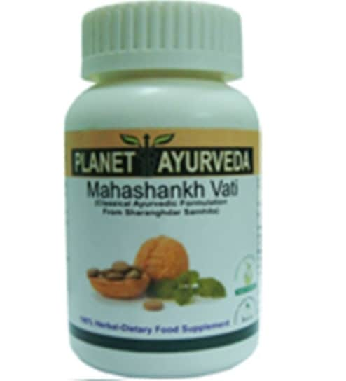 Planet Ayurveda Maha Shankh Vati Indigestion & Acidity Support (120  Tablets) Pack Of 2