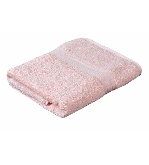 Buy Avira Home Light Pink Cotton Bath Towel Online Bath Towel