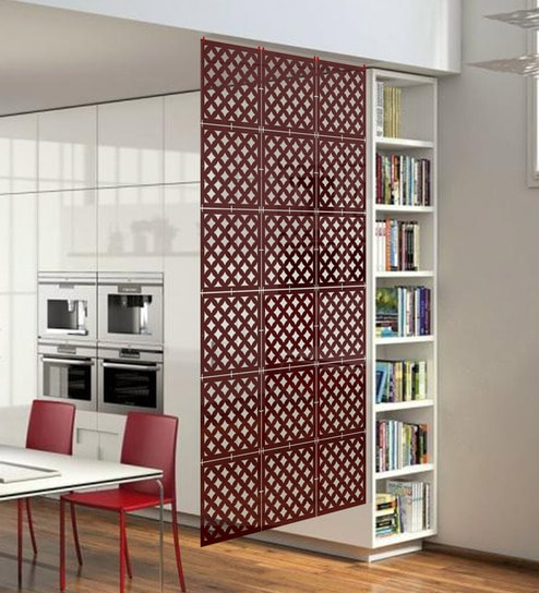 Buy Planet Decor Brown Acrylic with Wooden Lamination Room Divider