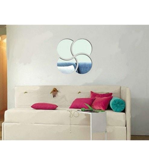 Buy Planet Decor Flower Acrylic Mirror Wall Sticker Online - Mirror ...