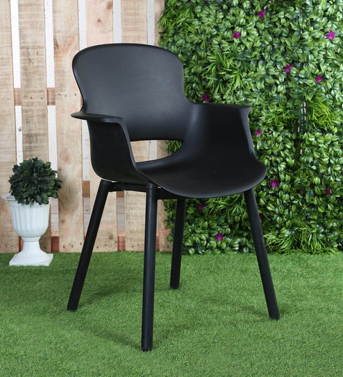 Astounding Plastic Chair In Black Colour By Ventura Download Free Architecture Designs Itiscsunscenecom