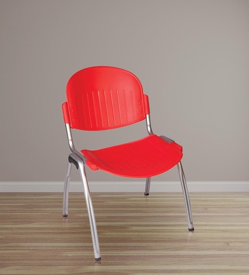 Plastic Chair in Red Colour by Ventura