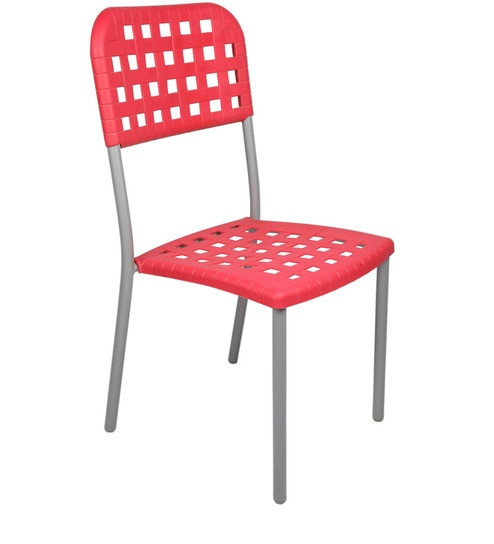 plastic chair in red colour by ventura - Plastic Chair