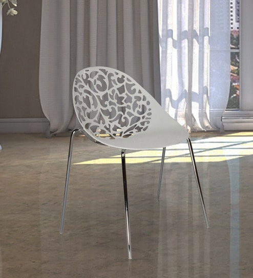 Plastic Chair in White Colour by Ventura