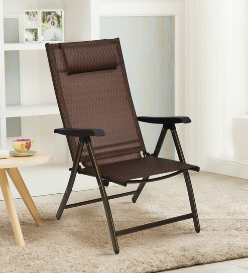 873a20751 Buy Plesure Easy Chair in Bronze Colour By Nilkamal Online - Folding Chairs  - Folding Chairs - Furniture - Pepperfry Product