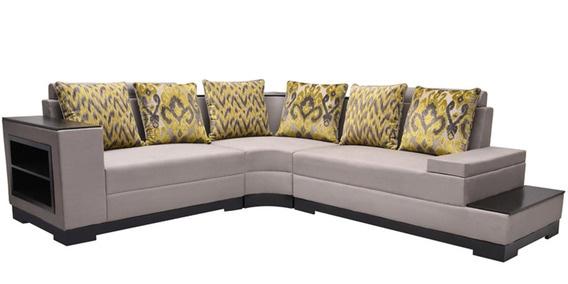 Platina (2 + 2) Seater L Shaped Sofa With BookShelf By Flora Decor