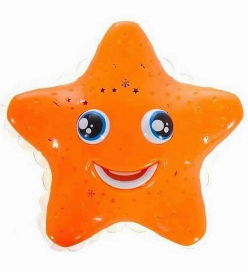Star Light Projector Night Lamp in Orange Colour by Planet of Toys