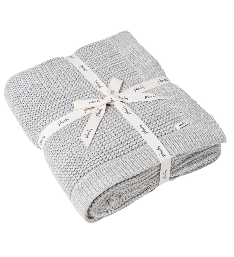 Bianca Knitted Single-Size Throw Blanket by Pluchi