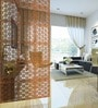 Planet Decor Brown Acrylic with Wooden Lamination Room Divider