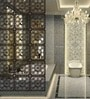 Planet Decor Wenge Acrylic with Wooden Lamination Flowery Room Divider