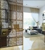Planet Decor Flowery Wenge Acrylic with Wooden Lamination Room Divider