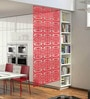 Planet Decor Red Acrylic with Wooden Lamination Room Divider