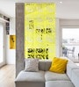 Planet Decor Yellow Acrylic with Wooden Lamination Room Divider