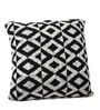 Black & White Cotton 18 x 18 Inch Noel Knitted Cushion Cover by Pluchi