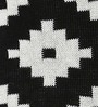Black & White Cotton 18 x 18 Inch Zumba Knitted Cushion Cover by Pluchi