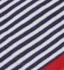 Pluchi Black & White Cotton Striped 47 x 39 Inch Single Blanket